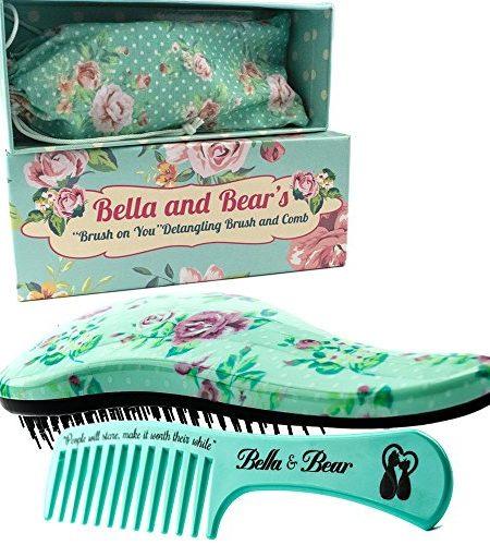 Haarbrsten-Set-von-Bella-Bear-die-beste-entwirrende-Brste-und-Kamm-fr-nasses-oder-trockenes-Haar-ideal-fr-Erwachsene-und-Kinder-keine-verknoteten-Haare-mehr-0